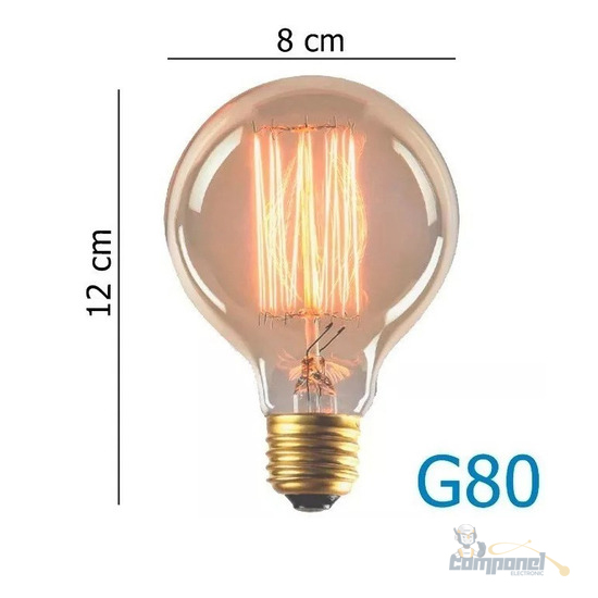 Lâmpada Bulbo Led Filamento Retrô G80 Led 4w 2200k